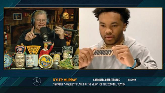Dan Patrick, Kyler Murray are posing for a picture